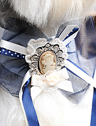 Popular Retro Palace Style Lace Rhinestone Bow Tie for Pets Dogs (Assorted Colors, Sizes)