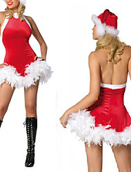 Christmas Costume selvagem Garota Red Velvet da Mulher