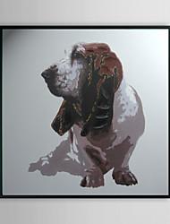 Бассет-хаунд животных обрамленная картина маслом