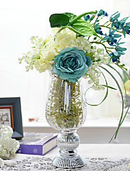 "20.45"" Elegant Flower Arrangement With Glass Vase"