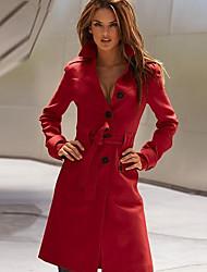 Women's Coats & Jackets , Tweed Casual/Work LEECOO