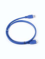 ULT-4210 USB3.0 AM-Micro B High Speed données du disque dur Câble de connexion - Bleu (1m)