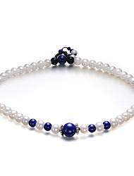 Double Layer Lapis Lazuli Black Onyx Bracelet de perles de LuckyPearl femmes PB0037PS26260