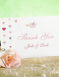 Thank You Card - Bird in Love (Set of 12)