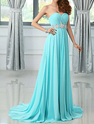 Lady Antebellum Bandeau Chapel Train Evening Dress