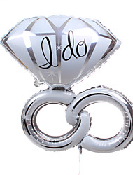 décoration de mariage bague en diamant argent métallique ballon