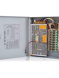 12V DC 9ch 10 Amps Power Supply Box for CCTV Security Cameras