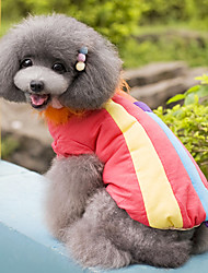 Popular Special Rainbow Style Warm Coat for Pets Dogs (Assorted Colors, Sizes)