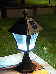 6PCS 0.2W Super Bright LEDs Solar Fence Post Luz Jardim Luz