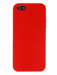 Cas qualité silicone souple pour iPhone 5/5S (couleurs assorties)