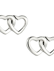Glamorous Sterling Silver Heart Shaped Bolzen-Ohrringe für Frauen
