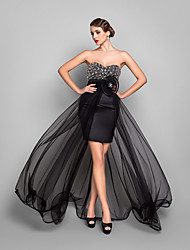 Sheath / Column Sweetheart Asymmetrical Tulle Evening Dress with Crystal by TS Couture®