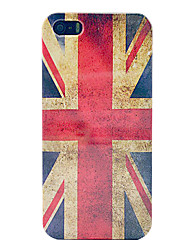 annata bandiera union jack custodia in plastica dura per il iphone 5/5s