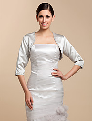 Wedding  Wraps Coats/Jackets Satin Silver Wedding / Party/Evening / Casual Beading / Sequin Open Front