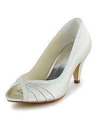 sapatos femininos peep toe stiletto calcanhar de cetim bombas sapatos mais cores disponíveis