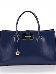 SCIDACA Elegant Gorgeous Cow Leather Dark Blue Tote