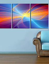 Stretched Canvas Print Art Abstract Dream Silk Set of 3