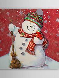 De cadeau de Noël peinture à l'huile prêt à accrocher Belle Neige bébé prêt à accrocher