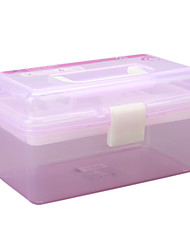 Makeup Storage Cosmetic Box / Makeup Storage Solid 18.6 x 12.5 x 10.5 Pink