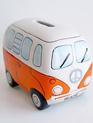 Creative Bus Design Ceramic Money Box