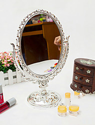 "12.5"" Floral Style Acrylic Tabletop Mirror"
