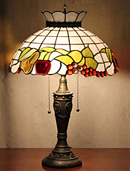 Crown Design Table Lamp, 2 Light, Tiffany Resin Glass Painting