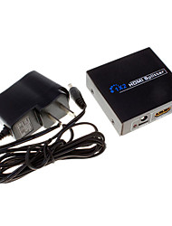 1x2 hdmi v1.4 séparateur pour la TVHD 1080p port HDMI avec adaptateur secteur