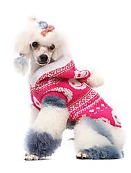 Hunde Kostüme / Pullover / Kapuzenshirts / Austattungen Rosa Hundekleidung Winter Cosplay / Halloween