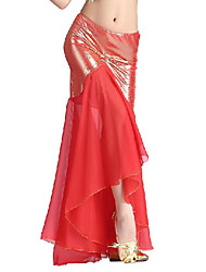 Dancewear Viscose And Chiffon Belly Dance Skirt For Ladies(More Colors)