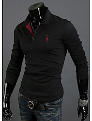 MELD Herren Schwarz Revers Neck Polo-Shirt