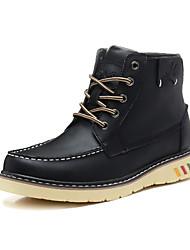Leder Flache Heel Kampf Ankle Boots (weitere Farben)