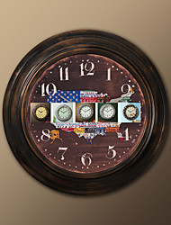 "17 ""H US-Flagge Stil Metall-Wanduhr"