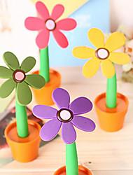 flor del sol con forma de bolígrafo