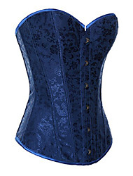 CAOJI Women's Sexy Royal Blue Strapless Corset and T-back
