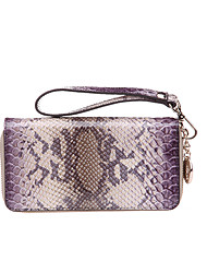 SCIDACA Handmade Genuine Leather Gorgeous Print Purse_6926020585546