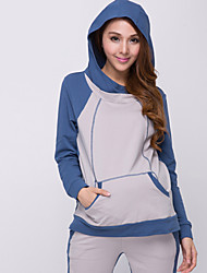 Maternity Contrast Color Hoodie