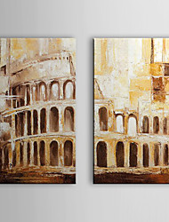 Hand Painted Oil Painting Landscape with Stretched Frame Set of 2 1311-LS1033
