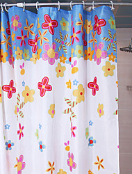 Shower Curtain Red Roses Print W78 x L71""
