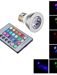 Remote-Controlled Spot Lights , E26/E27 3 W LM RGB AC 85-265 V