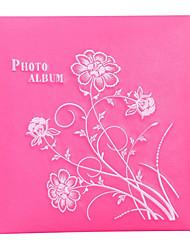 """Cuero del estilo floral 3 """"* 5"""" Álbum de fotos (360 Pocket)"""