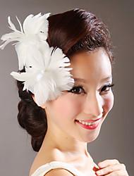 Pluma Flores Tocados de boda