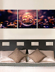 Stretched Canvas Print Art Hope of Christmas Set of 3