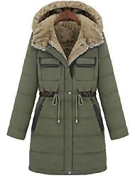 Aesir chaud long manteau rembourré Slim épais (Vert)