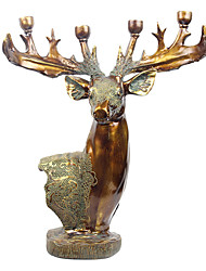 "24""Retro-style Deer Type Polyresin Four Holders Candelabra"