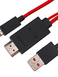 2m 6ft hdmi v1.4 naar mhl kabel voor mobiele apparatuur