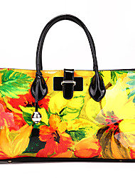 SCIDACA Gorgeous Cow Leather Yellow-Green Tote