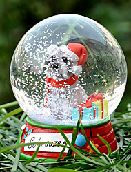 Lovely Schnauzer Decorative Crystal Ball Ornament Christmas Gift for Pet Lovers