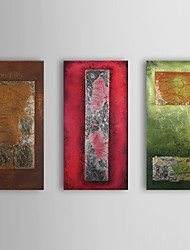 Hand Painted Oil Painting Abstract with Stretched Frame Set of 3 1311-AB1027
