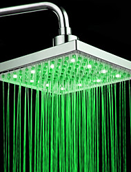 Finitura cromata rettangolari a temperatura controllata 3 colori LED Shower Head