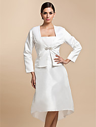 Wraps Wedding Cappotti / Giacche Maniche 3/4 Raso Bianco Matrimonio / Da sera / Casual Corte Con fermaglio